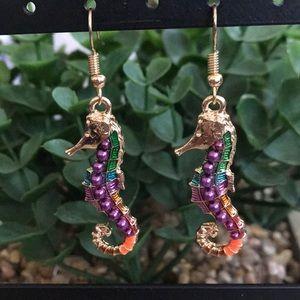 NWOT Betsey Johnson Seahorse Earrings!